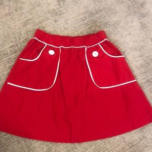 Hanna Anderson size 120 red skirt
